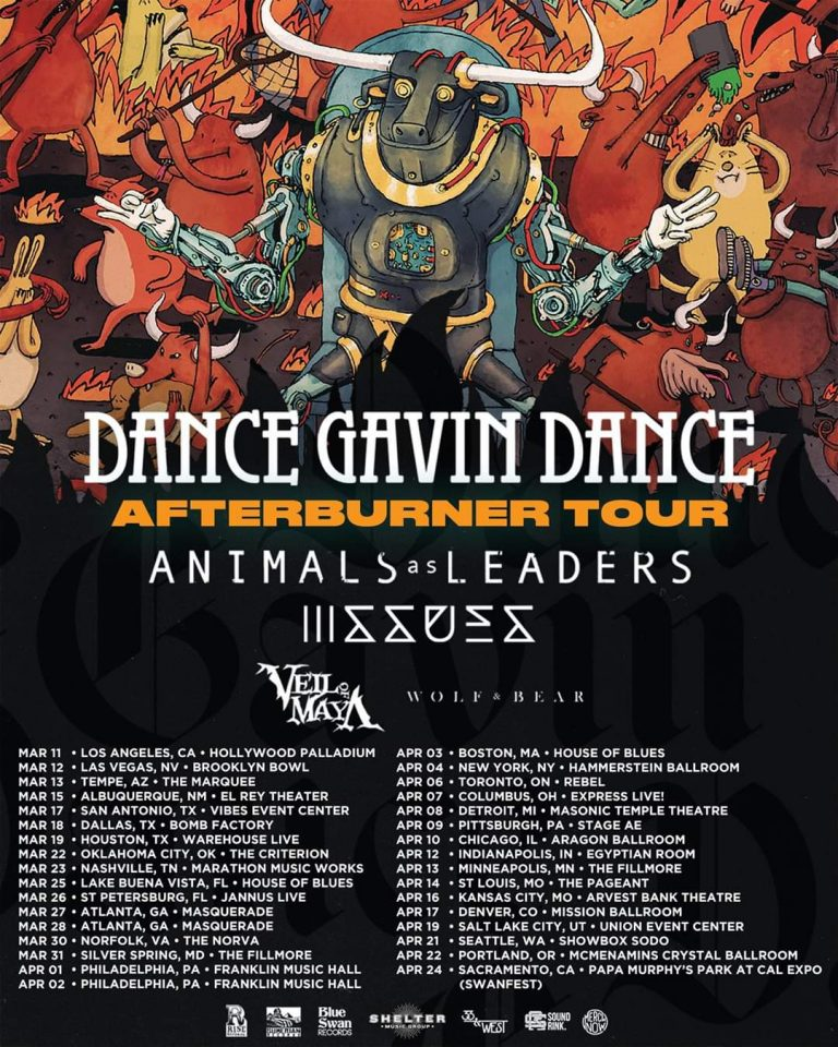 "Dance Gavin Dance Reschedules ""Afterburner"" Tour"