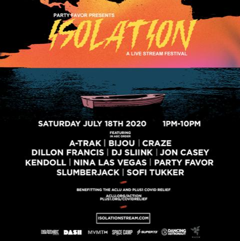 Party Favor Drops 'Isolation' Livestream Festival Lineup w/ A-Trak, DJ SLIINK, SOFI TUKKER & More!